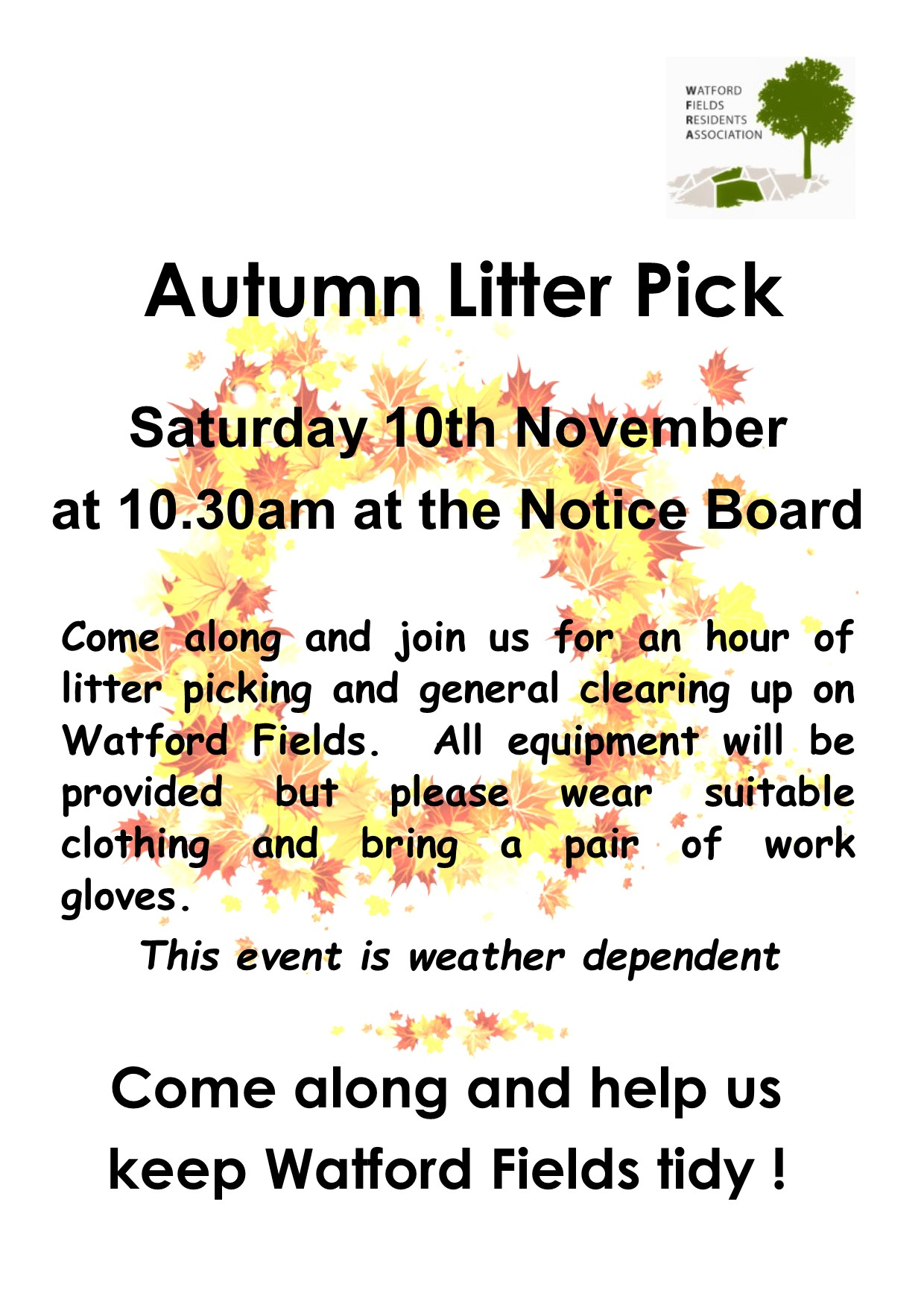 Poster for litter pick